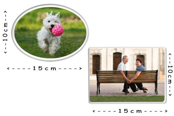Εκτύπωση φωτογραφίας σε οβάλ πορσελάνη 10x15cm για μνήμα