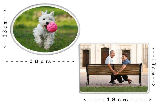 Εκτύπωση φωτογραφίας σε παραλληλόγραμμη πορσελάνη 13x18cm για μνήμα