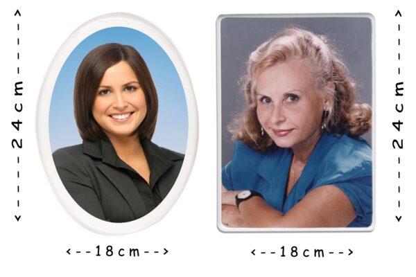 Εκτύπωση φωτογραφίας σε παραλληλόγραμμη πορσελάνη 18x24cm για μνήμα
