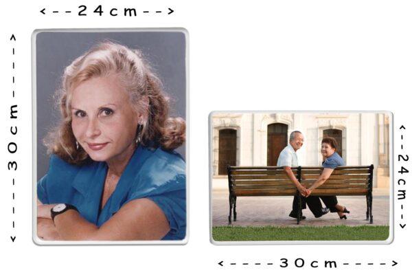 Εκτύπωση φωτογραφίας σε παραλληλόγραμμη πορσελάνη 24x30cm για μνήμα