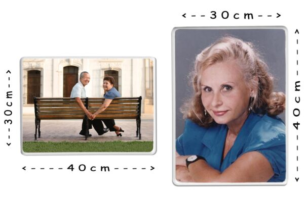 Εκτύπωση φωτογραφίας σε παραλληλόγραμμη πορσελάνη 30x40cm για μνήμα