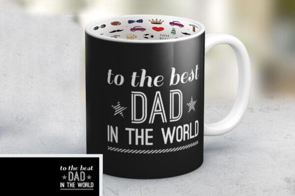 """Εκτύπωση φωτογραφίας σε κούπα """"Best Dad"""""""