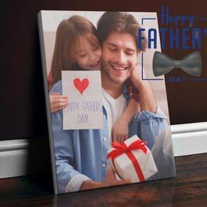 Εκτύπωση φωτογραφίας σε καμβά fathers-day