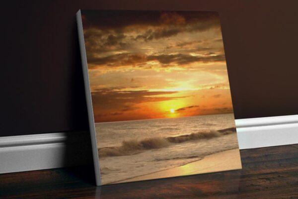 Εκτύπωση φωτογραφίας σε τετράγωνο καμβά 60x60cm