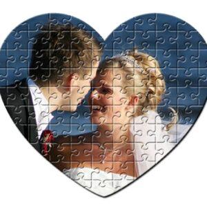 Εκτύπωση φωτογραφίας σε puzzle καρδιά