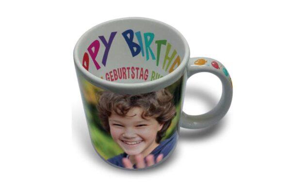 """Εκτύπωση φωτογραφίας σε κούπα """"Happy Birthday"""""""