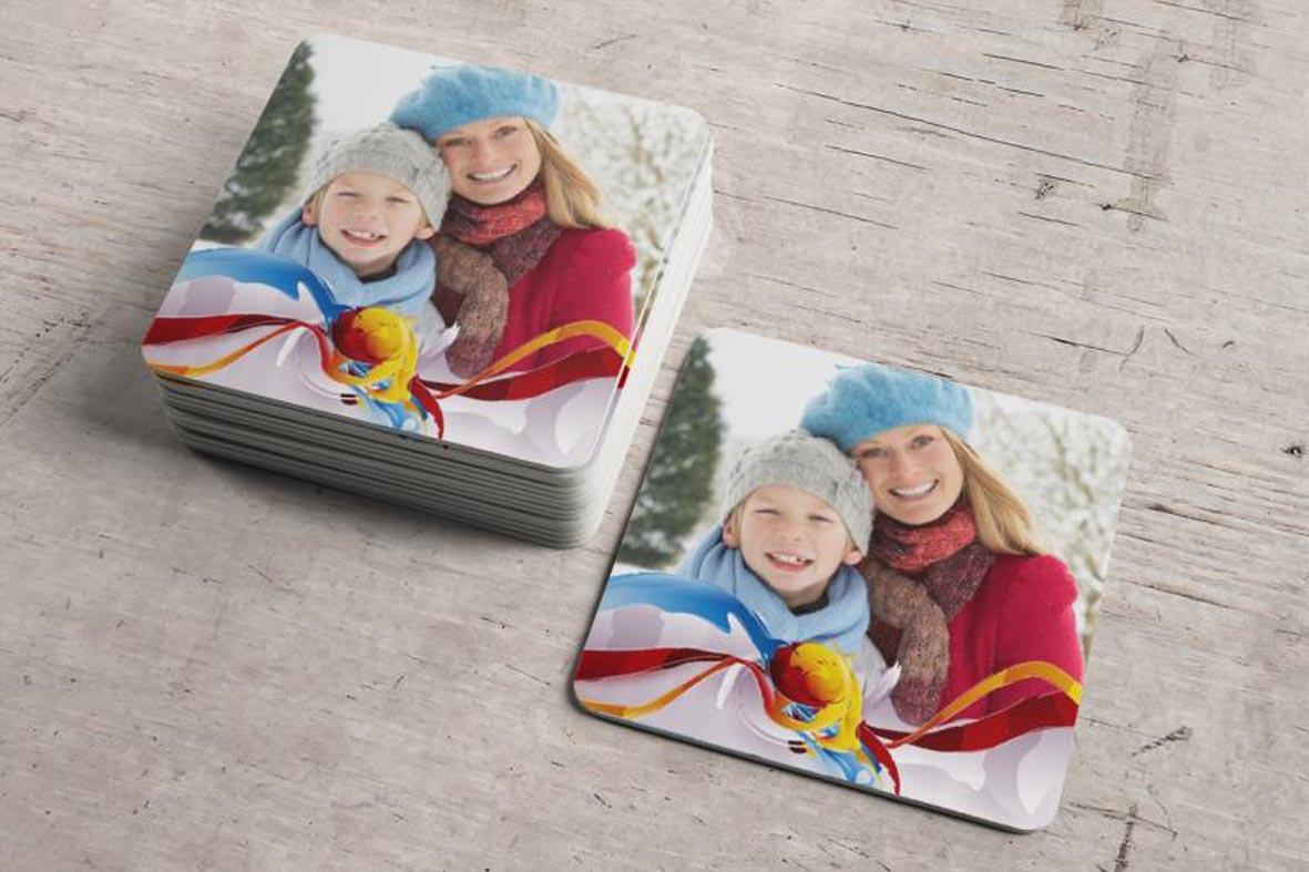 Εκτύπωση φωτογραφίας σε ξύλινο σουβέρ από το Print-Photos-Online.com