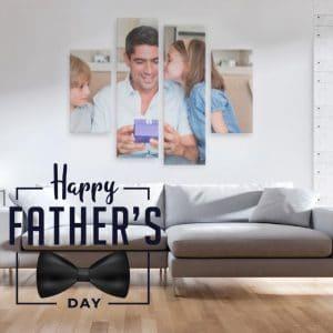 Σύνθεση 2 καμβάδες 30x60cm & 2 καμβάδες 30x100cm (πολύπτυχος καμβάς) fathers-day