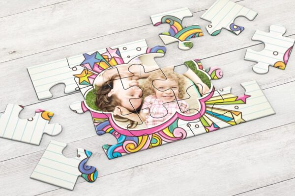 Εκτύπωση φωτογραφίας σε puzzle 20x25cm με 12 κομμάτια - ιδανικό για παιδιά