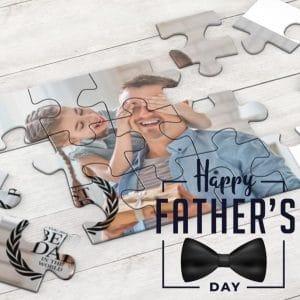 Εκτύπωση φωτογραφίας σε puzzle fathers day