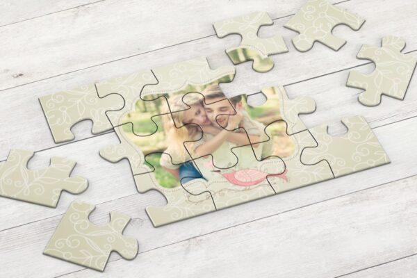 Εκτύπωση φωτογραφίας σε ξύλινο puzzle 17,5x25cm (6 κομμάτια - ιδανικό για παιδιά)