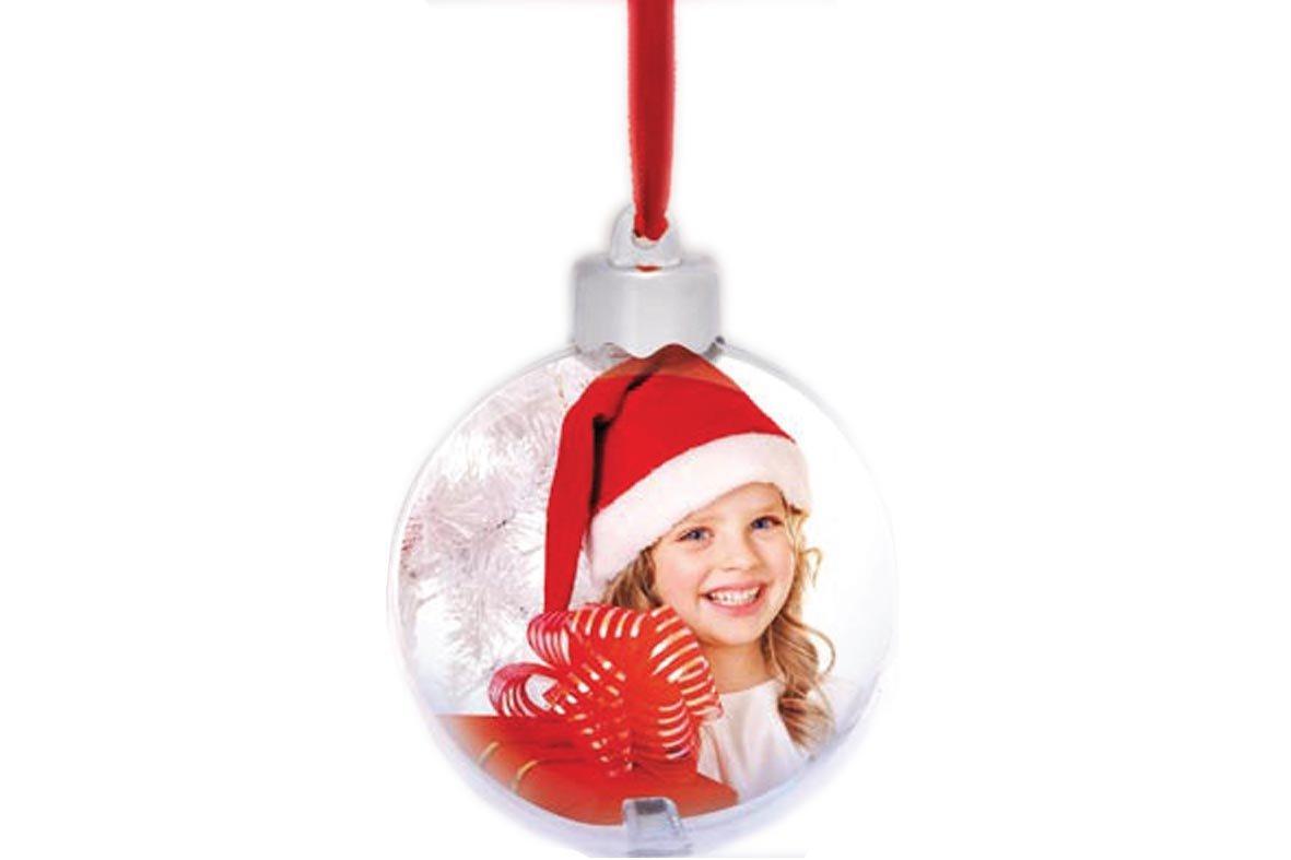 Χριστουγεννιάτικη μπάλα διπλής όψης