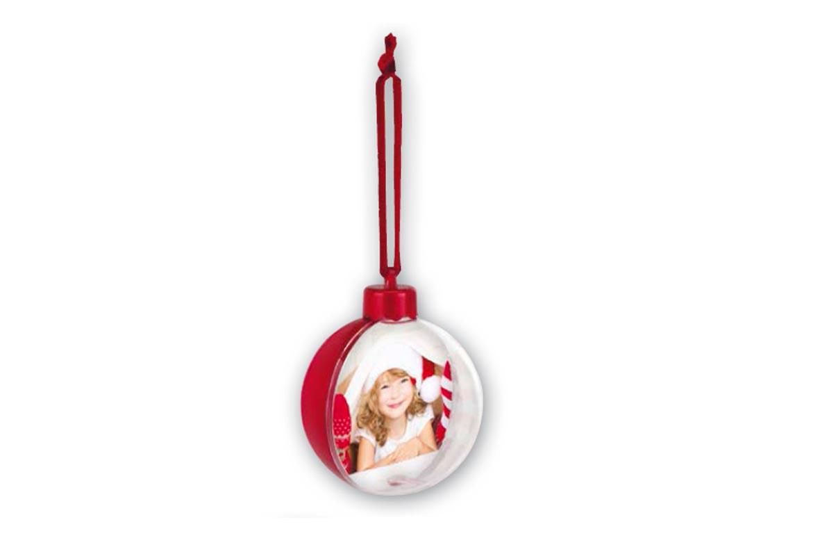 Χριστουγεννιάτικη μπάλα μονής όψης