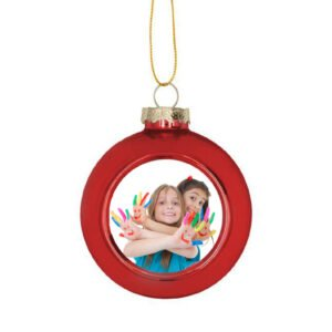 γυάλινη χριστουγεννιάτικη μπάλα