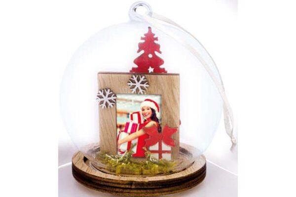χριστουγεννιάτικη γυάλινη μπάλα