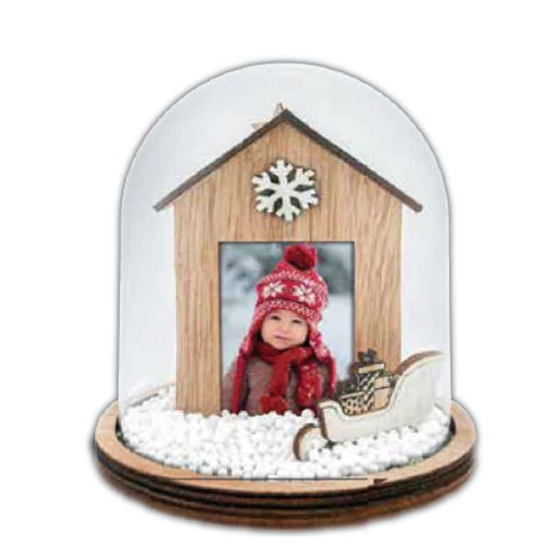 Εκτύπωση φωτογραφίας σε χριστουγεννιάτικη γυάλινη μπάλα από το Print-Photos-Online.com