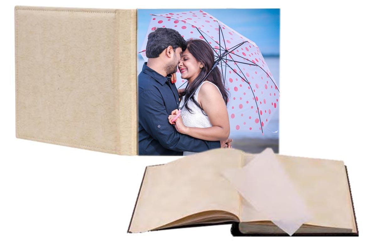 Άλμπουμ φωτογραφιών με ριζόχαρτο & εξώφυλλο φωτογραφία στη μπροστινή όψη