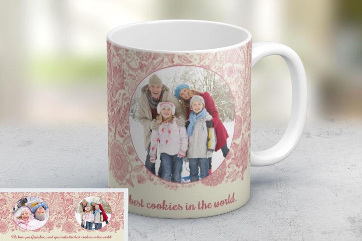 Εκτύπωση φωτογραφίας σε κούπα Floral από το Print-Photos-Online.com