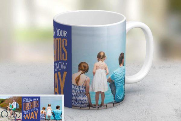 Εκτύπωση φωτογραφίας σε κούπα Follow Your Dreams από το Print-Photos-Online.com