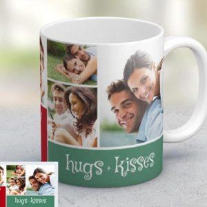 Εκτύπωση φωτογραφίας σε κούπα Love Joy Hugs and Kisses από το Print-Photos-Online.com