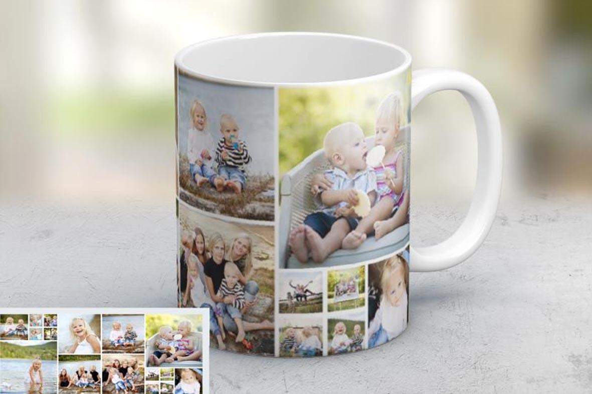 Εκτύπωση φωτογραφίας σε κούπα Photo Mosaic από το Print-Photos-Online.com