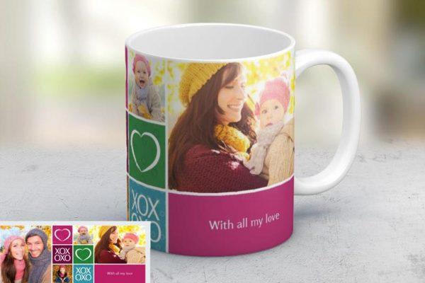 Εκτύπωση φωτογραφίας σε κούπα With All My Love από το Print-Photos-Online.com
