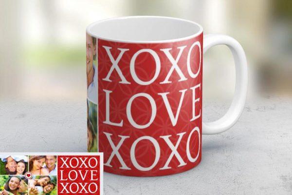 Εκτύπωση φωτογραφίας σε κούπα xoxo από το Print-Photos-Online.com