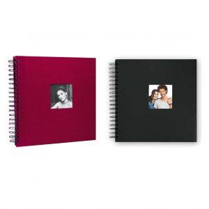 Άλμπουμ φωτογραφιών με μαύρα φύλλα, ριζόχαρτο & εξώφυλλο σπιράλ από το Print-Photos-Online.com