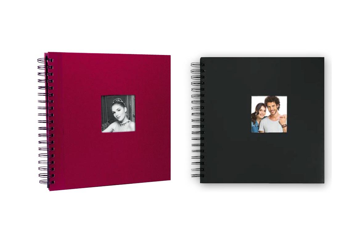Άλμπουμ φωτογραφιών με μαύρα φύλλα, ριζόχαρτο & εξώφυλλο σπιράλ (κωδικός 17342) από το Print-Photos-Online.com