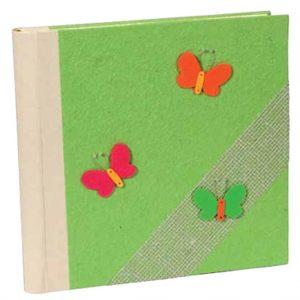 Άλμπουμ φωτογραφιών με craft εξώφυλλο & ριζόχαρτο (κωδικός 12346 - green)