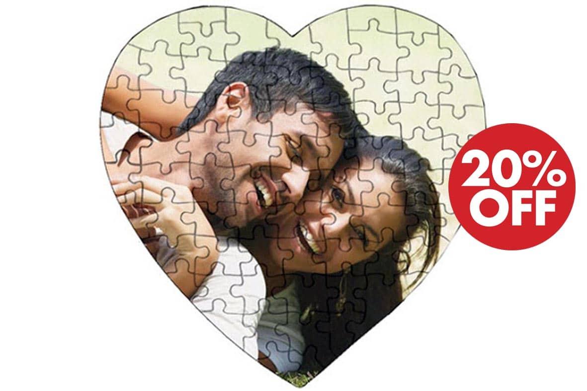 Έκπτωση 20% στα ξύλινα & χάρτινα puzzles με την φωτογραφία σου!