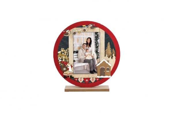 Ξύλινη χριστουγεννιάτικη κορνίζα 10x15cm από το Print-Photos-Online.com