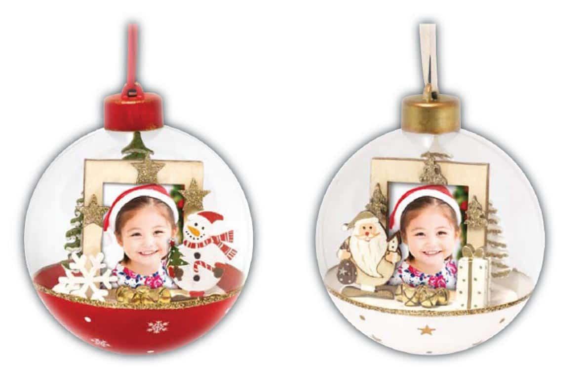 Εκτύπωση φωτογραφίας σε χριστουγεννιάτικη μπάλα με φωτογραφία μεγέθους 3,5x4,5cm